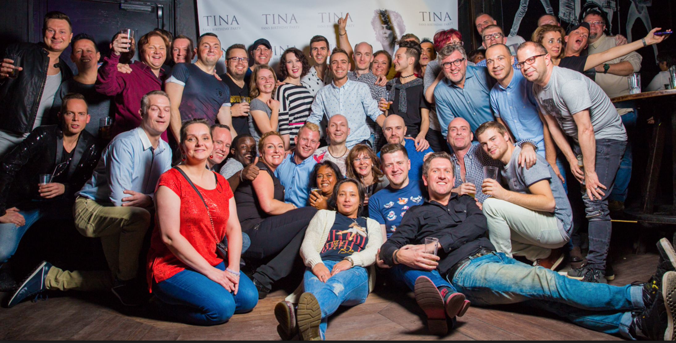 Tina Turner Fan Birthday Party - TINA 77 - Amsterdam 2016 Group photo